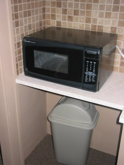Beauty School Dorm Microwave